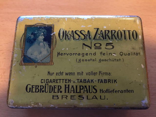 Okassa Zarrotto No 5 Gebrüder Halpaus Breslau