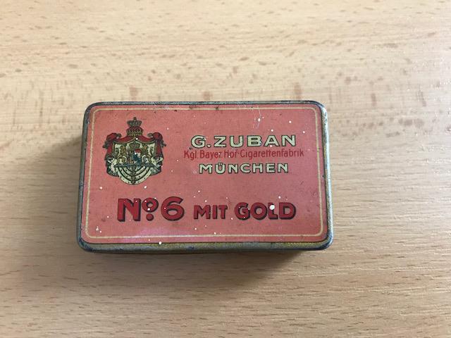 Zigarette No.6 mit Gold von der Zuban Zigarettenfabrik